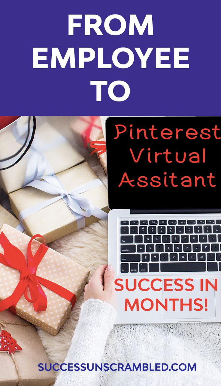 Learn how one women went from an employee to a Pinterest Virtual Assistant and Online Business Manager in a few short months. #virtualassistant #onlinebusiness #girlboss #businesswoman