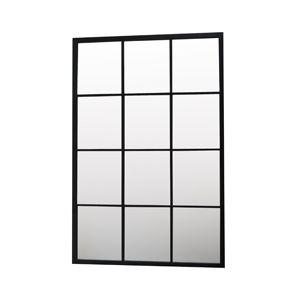 Miroir en métal noir XL fenêtre verticale 12 carreaux signé Akhal.Découvrez dans cette même collection le format carré, le miroir avec étagère, ou la verrière horizontale.