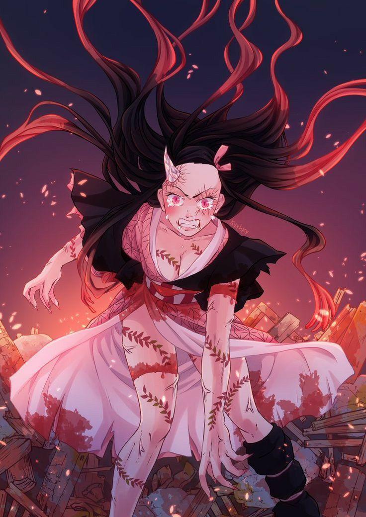 Kimetsu No Yaiba Nezuko Kamado di 2020 Karakter