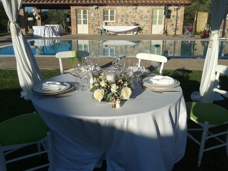 Wedding reception - Bride and Groom table (with their two children)