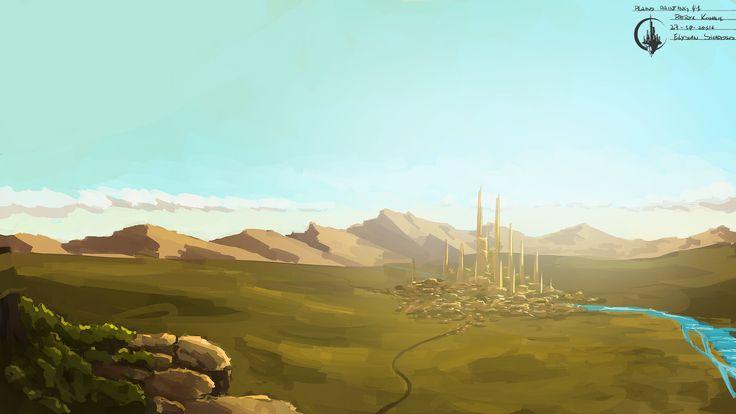 #gamedev #conceptart #painting #elysianshadows #indie #plains #landcape #river