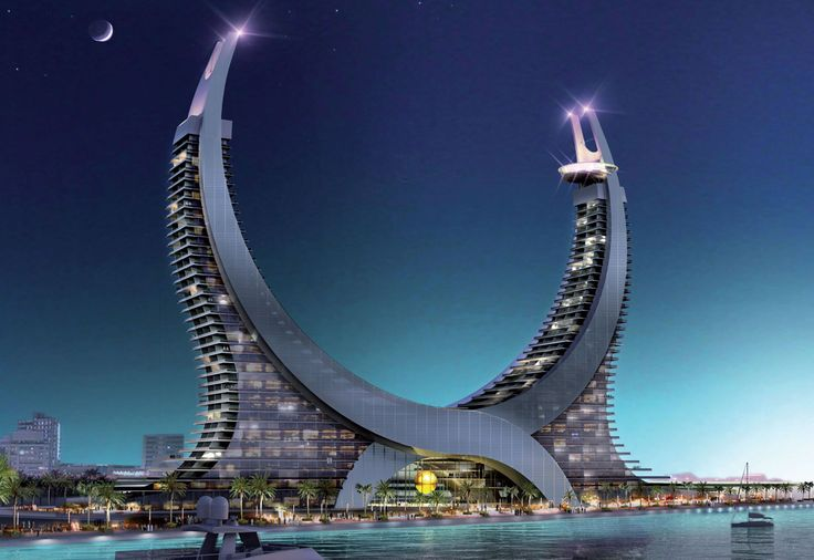 Katara Hospitality Resort, So Brilliant. So this is a real thing but looks like it could be straight out of a near-future sci-fi movie.