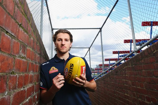 Marcus Bontempelli of the Bulldogs poses during a Western Bulldogs AFL media opportunity at Whitten Oval on September 26, 2016 in Melbourne, Australia.