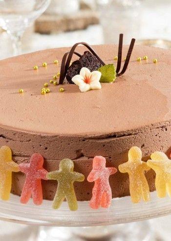Sjokoladekake med sjokoladefyll. Laban seigmen barnebursdag. FOTO: WERNER JUVIK