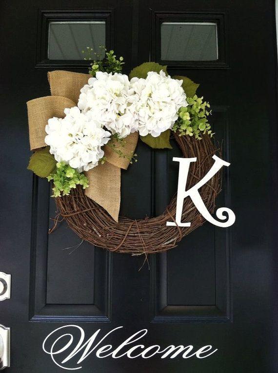 All Year Long Wreath - Everyday Wreath - Front Door Decor - Summer Wreath - Fall Wreath - Gift Ideas - Wreaths - Hydrangea Burlap Wreath