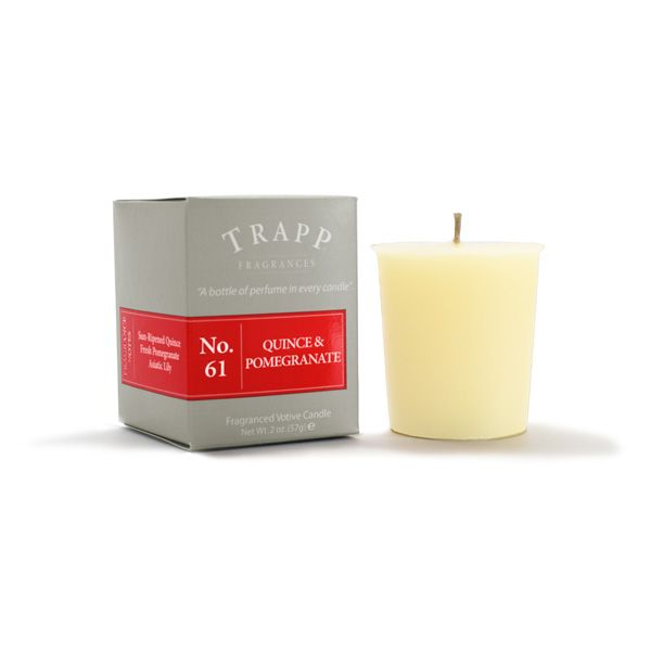 No 61 Quince & Pomegranate - 2oz Votive Candle | Trapp Candles