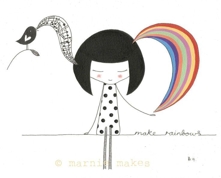Make Rainbows..recent illustration
