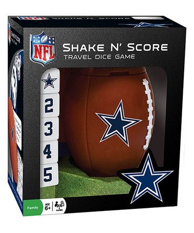 Love this Dallas Cowboys Shake 'n' Score Dice Game on #zulily! #zulilyfinds