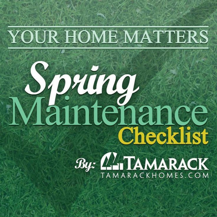 Get ready for Spring with our Spring Maintenance Checklist http://bit.ly/1kCGrGQ