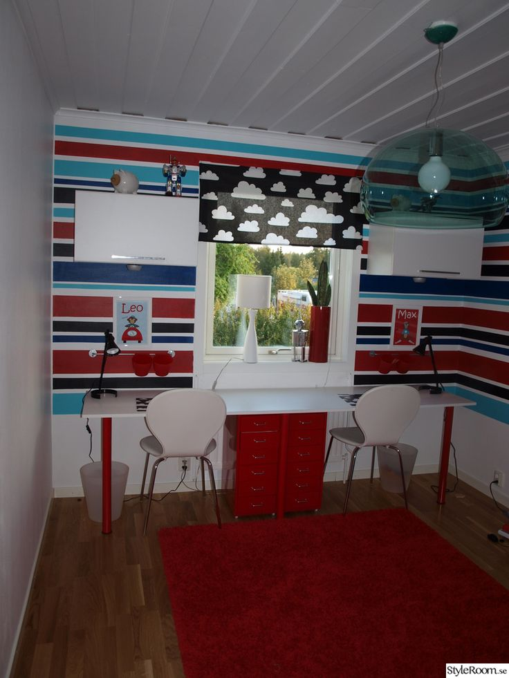barnrum,lekrum,skrivbord,rätt,randigt,målat,kartell fly