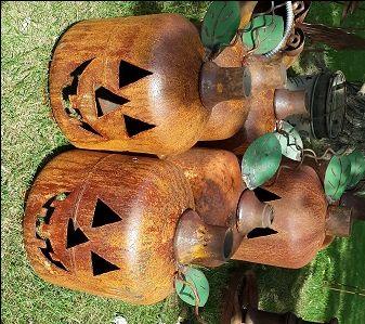 Propane tank (?) pumpkins!