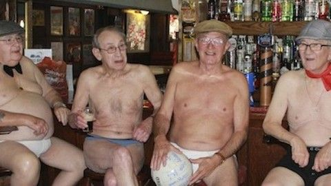 A group of East London pensioners have come up with a novel way of ending pub closures by launching a tongue in cheek nude calendar to raise awareness about disappearing pubs.