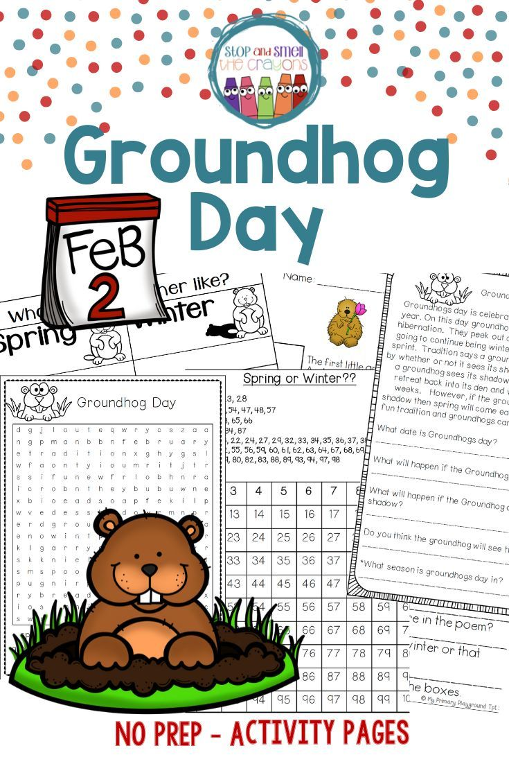small resolution of Groundhog Day in 2020   Groundhog day activities