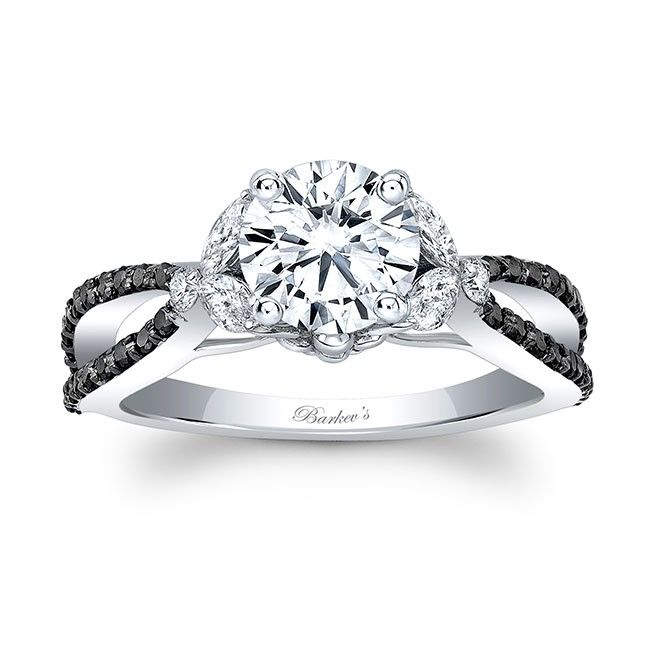 Barkevu0027s Black Diamond Engagement Ring   8062LBK