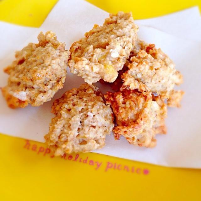 クックパッド2004899 砂糖・卵不使用です。 バナナの甘みとシナモンの香りが最高! - 26件のもぐもぐ - オートミールクッキー by かわち
