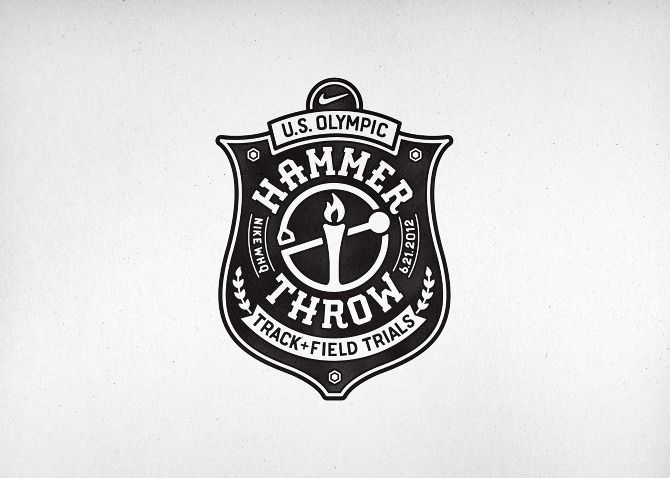 Nike Olympic Hammer Throw - CommonerInc: Olympics Hammered, Business Cards, Richie Stewart, Nike Ht2, Logos Inspiration, Graphics Design, Hammered Throw, Badge, Ht2 Cut