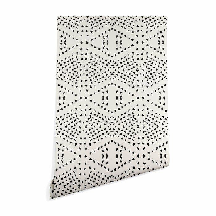 Holli Zollinger Tile Matte Peel And Stick Wallpaper Panel Reviews Allmodern Boho Tiles Peel And Stick Wallpaper Wallpaper Panels