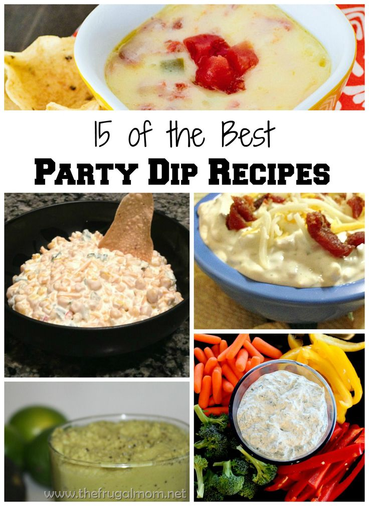 ... look at this list of 15 of the best party dip recipes! #biggame #party