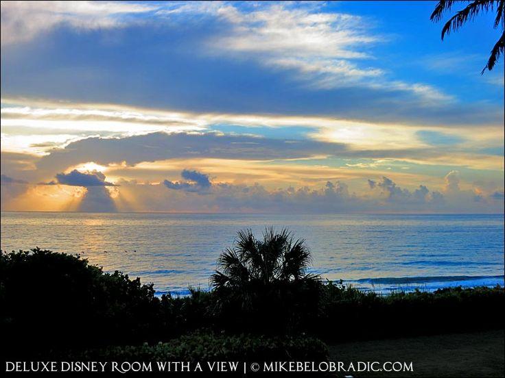 Sunrise over the Atlantic: view from room 2228 at Disney's Vero Beach Resort, Florida. #VeroBeach #DisneyTravel http://mikebelobradic.com/view-room-2228-disneys-vero-beach-resort-florida/