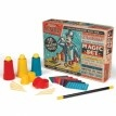 Want to work your own magic? This magic set has everything you need to perform 15 amazing tricks! Includes cup and ball tricks, coin base, spikes through coin, coin paddle tricks, computer age cards and magic wand tricks. $24.99 #magic #kids #magician #trick
