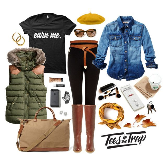 Running Errands in the Fall | Earn Me Tee | Tes in the Trap by teesinthetrap on Polyvore featuring polyvore fashion style Juicy Couture H&M Diane Von Furstenberg Saks Fifth Avenue Invicta Alexander McQueen ASOS Thierry Lasry Want Les Essentiels de la Vie Iman NARS Cosmetics Crate and Barrel Chapstick clothing