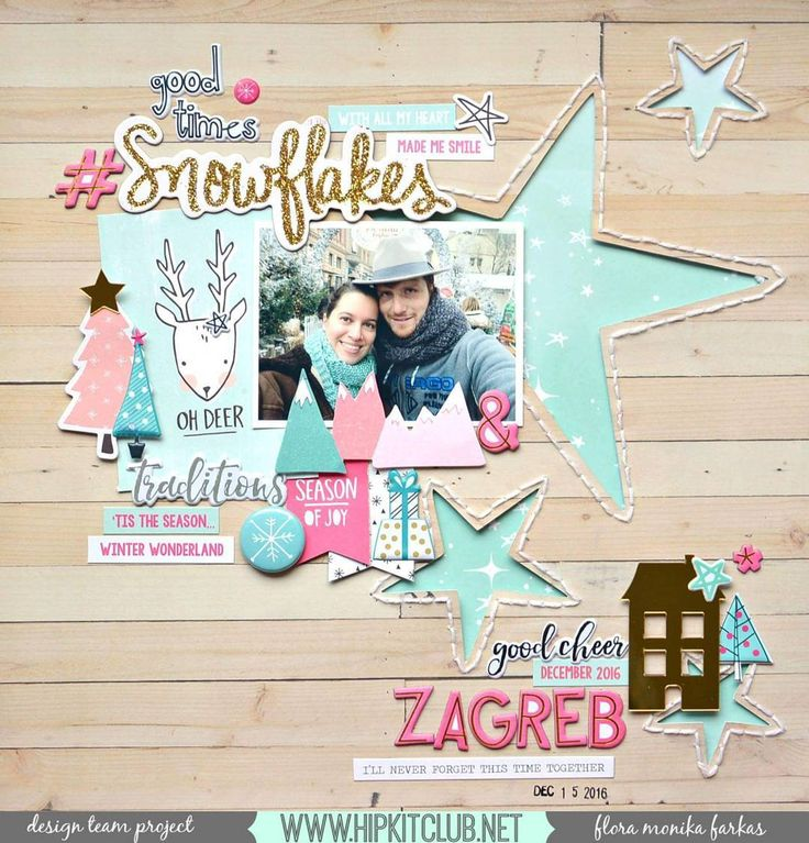 Use lots of the #hkcexclusives that are included in the #november2016 #hipkits just as designer @floramfarkas has done on her pretty layout! @hipkitclub #hkcexclusives #exclusives #hipkitexclusives @cratepaper #snowandcocoa @pinkfreshstudio #ohjoy #hipkitclub #silhouettecameo #cutfiles #papercrafting #kitclub #scrapbookingkitclub #stars
