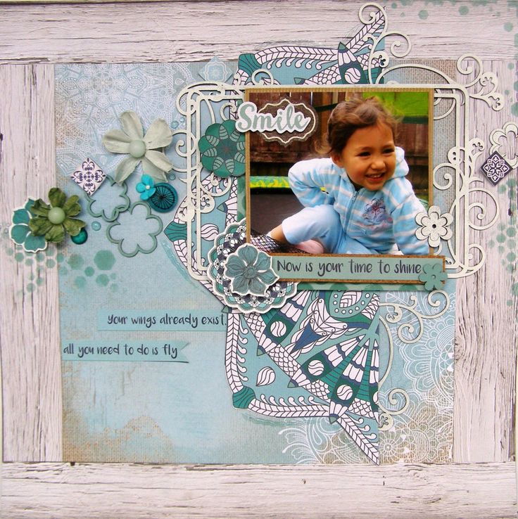 Your Time To Shine - Layout with Scrapmatts chipboards and stencil, and Kaisercraft's Ubud Dreams collection