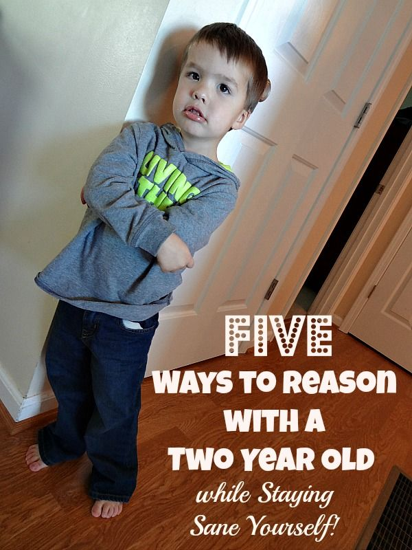Is reasoning with your two year old driving you crazy?  Are you out of ideas to make it work?  Here are Five Ways to Reason with a Two Year Old While Staying Sane Yourself!  #Parenting #Tips