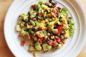 Gin And Juicer: Simple Southwest Chopped Salad + Vegan Cilantro Cream Dressing