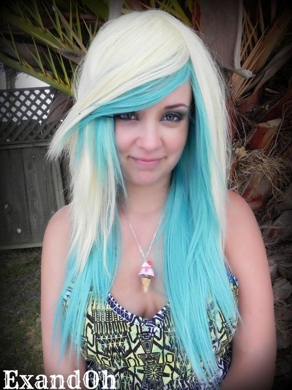 20 OFF SALE Mint Whipped Cream / Blonde and Pastel by ExandOh, $123.25