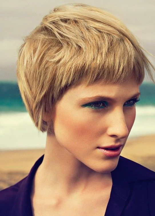 Stylish Short Layered Hairstyle for 2014  Love how short this is around the face but longer at the crown.