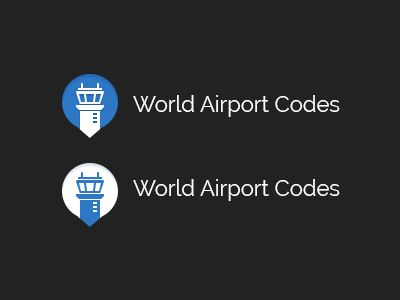 World Airport Codes Logo by Nick Haines
