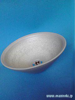 手洗いボウル(そりホワイト)陶器手洗い用