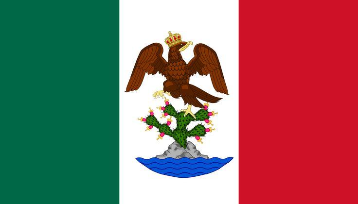 Flag of First Mexican Empire.    Bandera del Primer Imperio Mexicano - Flag of New Mexico - Wikipedia