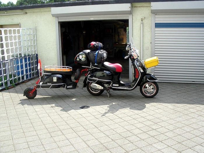 Vespa and trailer