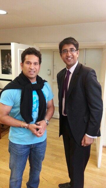 Me and Sachin Tendulkar