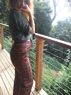 1970's Fletcher Jones Tartan Pants.