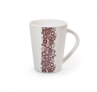 Tazza Q-Deco Tazza collezione Q-Deco, ispirata all'Art-Decò.  In porcellana liscia bianca dipinta a mano.  Capacità: 350ml  E' possibile lavarla in lavastoviglie ed è resistente al forno a microonde.  #aurile #FMGroup #FMGroupItalia #coffee #caffè #coffeebreak