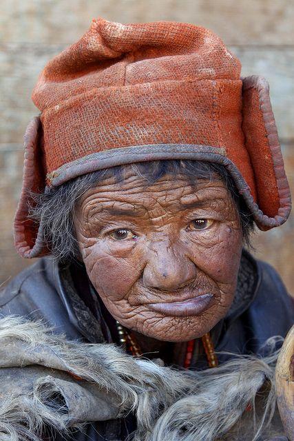Old Zanskari woman