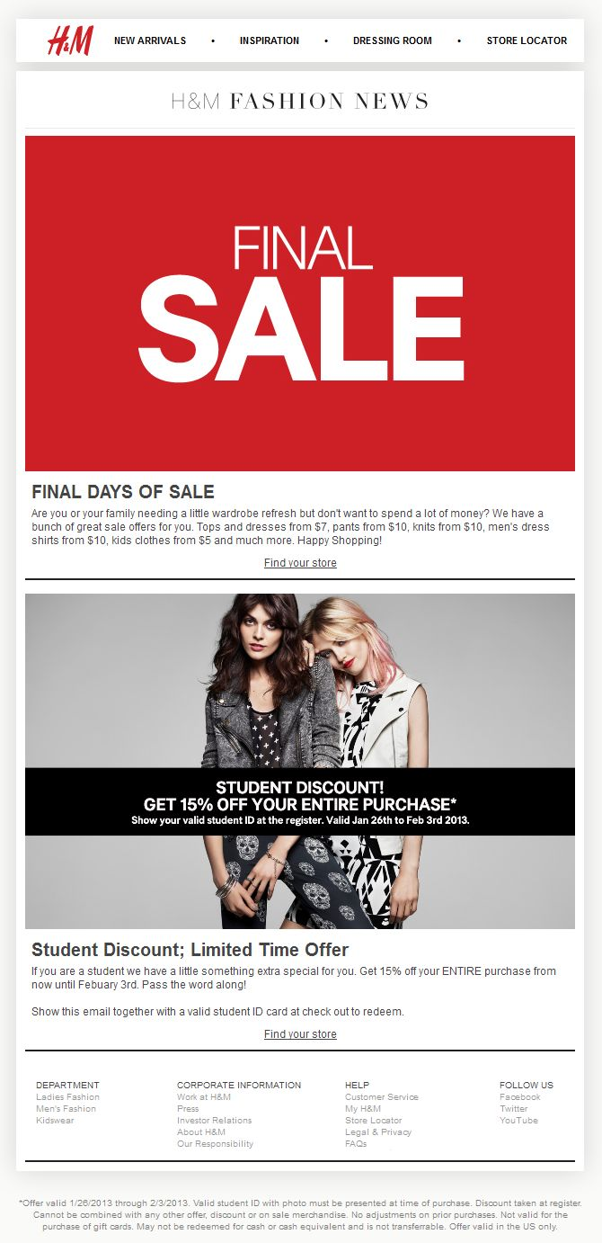 Kirklands Coupons December 2013 - H m coupon h m promo code from the coupons app students knock off everything at h m september