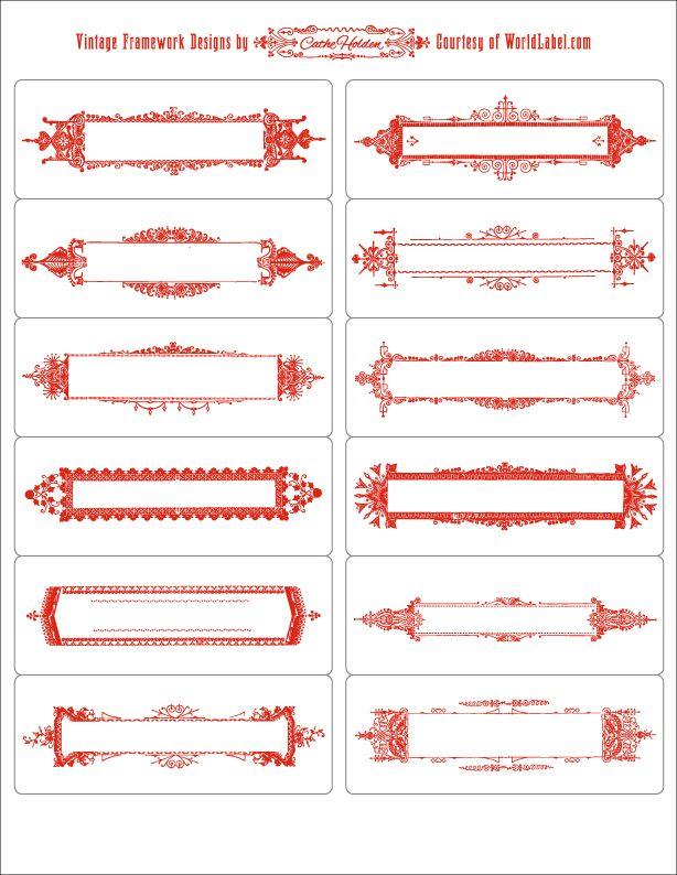 Framework labels by Cathe Holden JustSomethingIMade.com