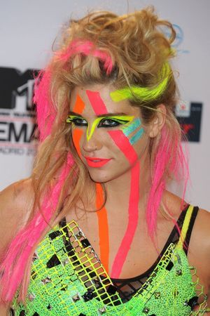 Very 80's face paint | Body Art | Uv face paint, Neon face ...