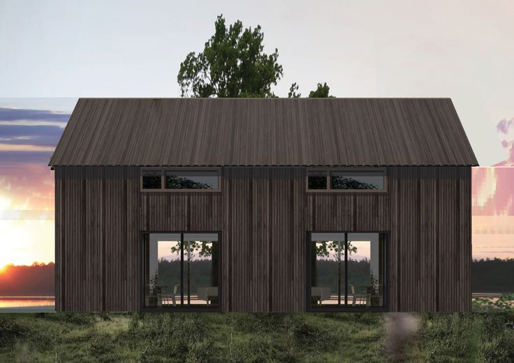LANGHUS is a series of cabins that are based on traditional Norwegian architecture, with simple functional buildings that gently are placed in the cultural landscape, design: WULLUM for Rindalshytter AS