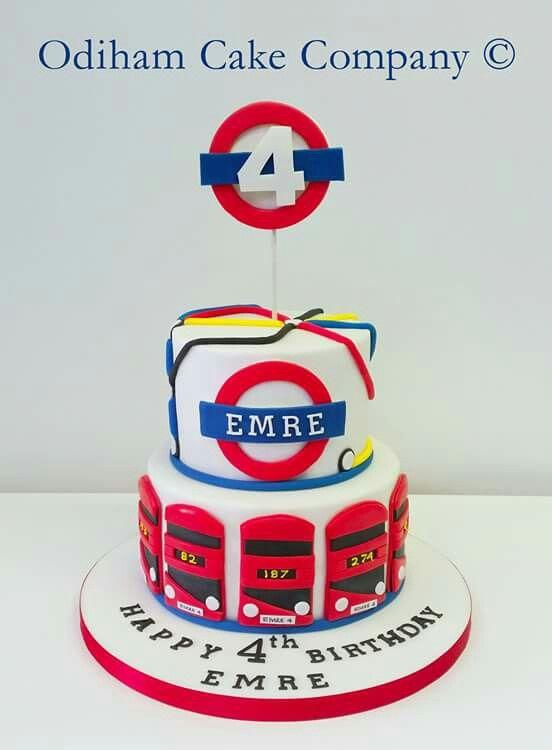 OCC - London underground themed birthday cake. #cake #birthday #london #underground