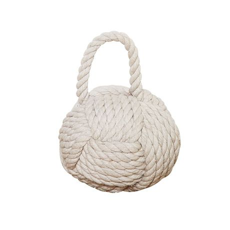 17 best images about bathroom on pinterest nautical rope white wicker and dulux endurance - Knot door stopper ...