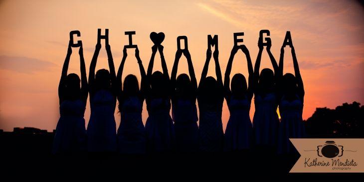 Chi Omega Sorority Stunning Sunset Silhouette Photo at the University of Iowa. Image by Chi Omega alumna and photographer @Katherine Mendieta Photography #chiomega #chio