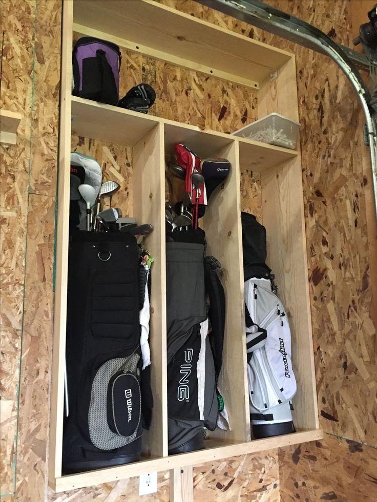 Diy Golf Bag Storage Cabinet Pine 1, Golf Club Storage Garage