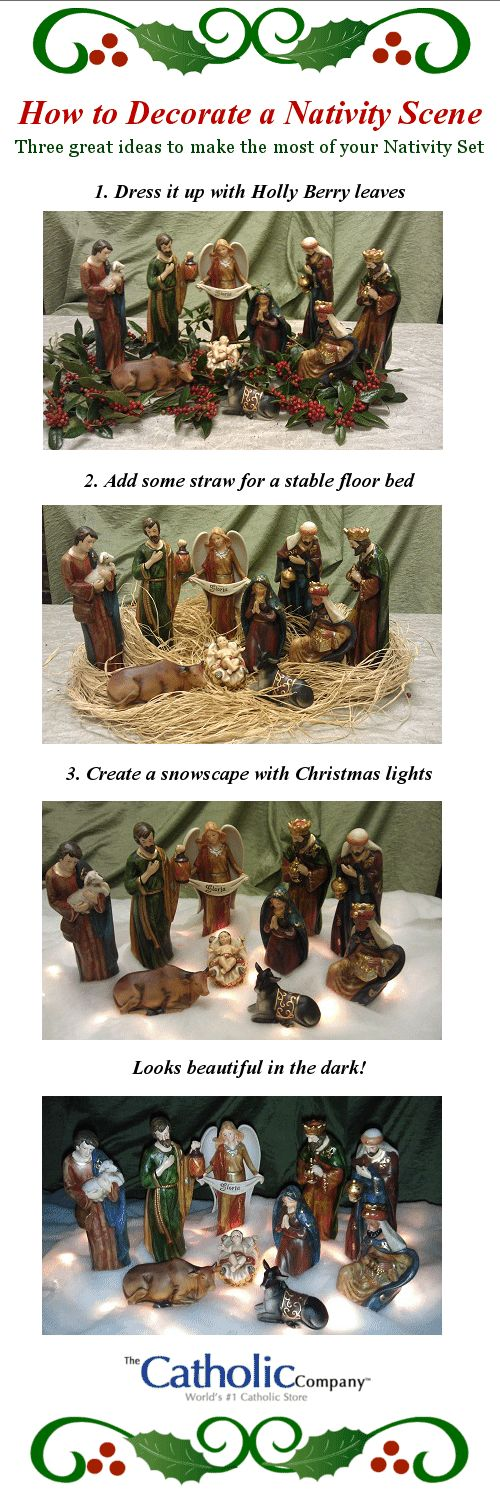 How to Decorate Your Nativity Scene.