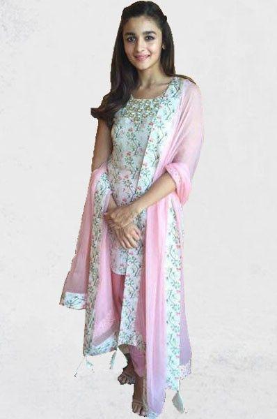 Alia Bhatt Payal Singhal Pink Dhoti Style Designer Party Wear Salwar Suit