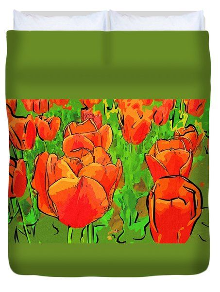 #flowers #art #poster #gifts Drawings Arts Of Flowers Duvet Cover